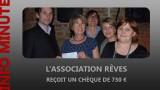 Un chèque pour l'association Rêves