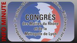 Villefranche accueille le Congrès des Maires du Rhône et de Lyon Métropole