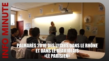 Palmarès 2016 des Lycées dans le Rhône «Le Parisien»