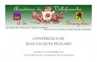 Conférence de Jean-Jacques Pignard à l'Académie de Villefranche