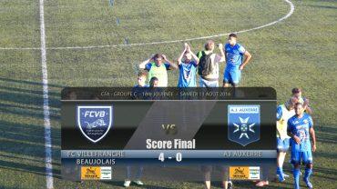 Foot – FCVB – AJ Auxerre B – 13/08/2016