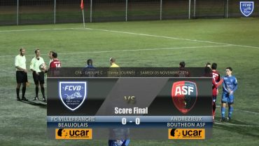 Foot – FCVB – ANDREZIEUX 05/11/2016