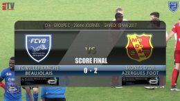 Foot – FCVB – Chasselay MDA 13/05/2017