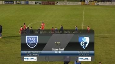 Foot – FCVB – Grenoble foot 38  12-03-2016
