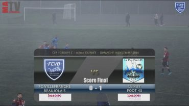 Foot – FCVB – Le Puy Foot 43 – 18/12/2016