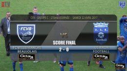 Foot – FCVB – Raon l'Etape 15/04/2016