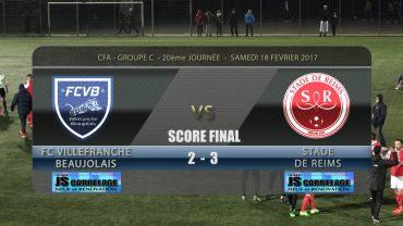 Foot – FCVB – STADE DE REIMS – 18/02/2016