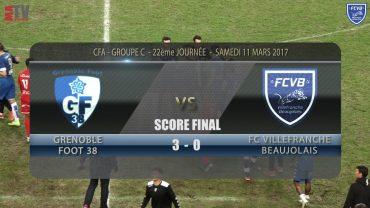 Foot – Grenoble Foot 38 – FCVB – 11/03/2016