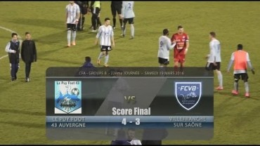 Foot – Le Puy – FCVB – 19 – 03 – 2016