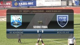 Foot – LE PUY – FCVB 29/04/2016