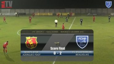 Foot – MDA Chasselay – FCVB – 21/12/2016