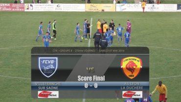 Football – FCVB / Lyon La Duchère – 07/05/2016