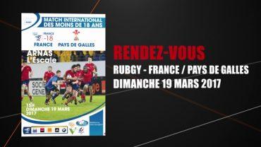 Rugby – L'Escale accueille France – Pays de Galles