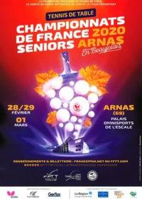 Championnat de France Seniors de Tennis de Table 2020