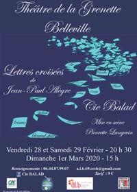Théâtre - Lettres croisées