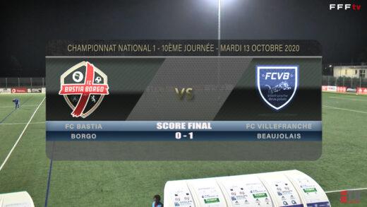 Foot - Bastia Borgo vs FCVB 13/10/2020