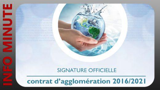 Qualité de l'eau - Signature du Contrat d'agglomération 2016/2021