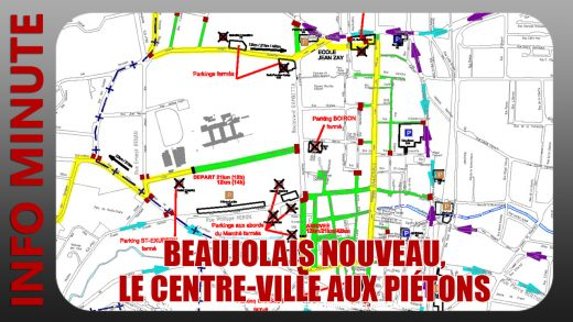 Beaujolais nouveau, le centre-ville aux piétons