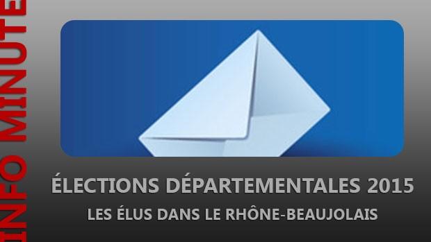 Départementales 2015 – Les élus dans le Rhône-Beaujolais