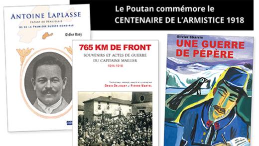 Livres - 4 ouvrages sur le centenaire de l'armistice aux éditions du Poutan