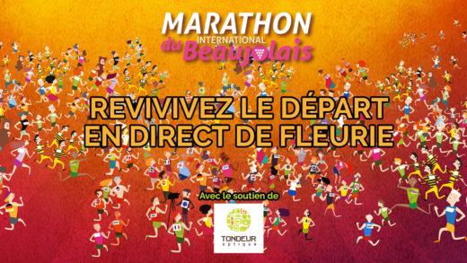 Départ du Marathon du Beaujolais 2018 Facebook Live