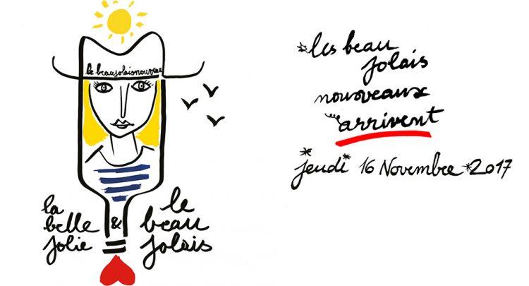 L'affiche des Beaujolais Nouveaux 2017 signée par Jean-Charles de Castelbajac