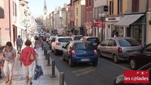 Les commerçants Les Calades au centre ville de Villefranche