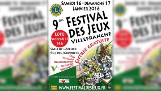 Festival des jeux 2016 à Villefranche - Présentation