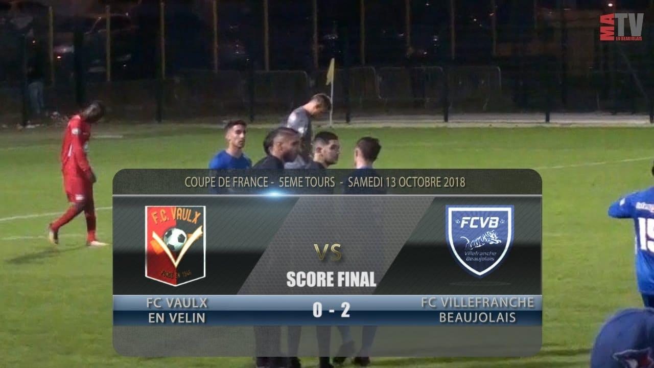 Foot - Coupe de France - 5ème Tour - Vaulx en Velin vs FCVB