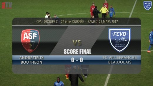 Foot – ANDREZIEUX – FCVB 25/03/2017