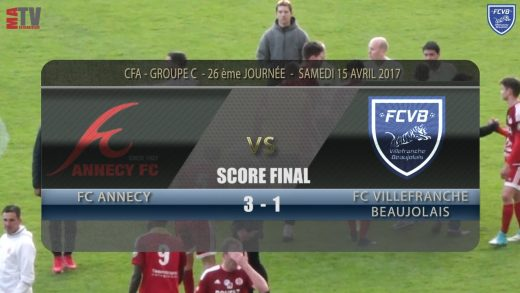 Foot – ANNECY – FCVB 15/04/2016