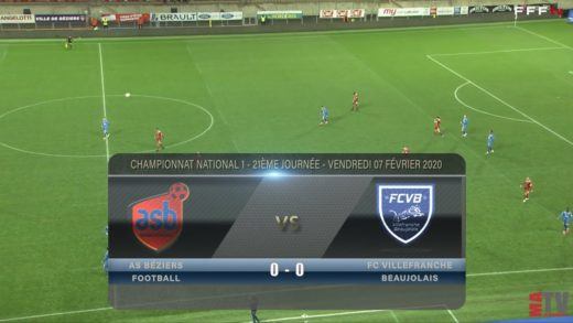 Foot - AS Béziers vs Villefranche 07/02/2020
