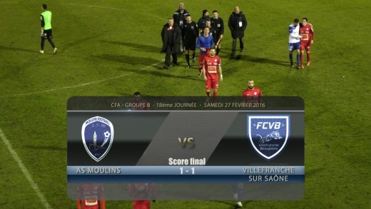 Foot - AS Moulins / FCVB - 27/ 02/ 2016