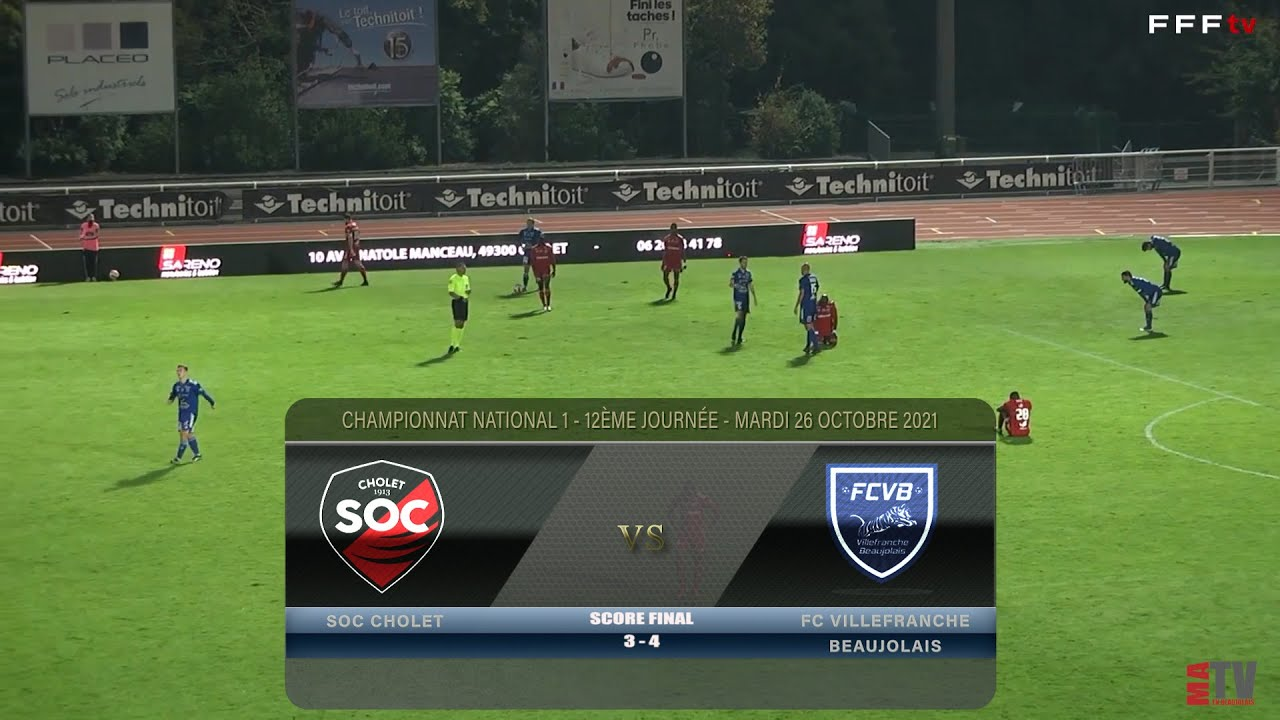 Foot - Cholet vs FCVB 26/10/2021