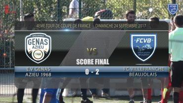 Foot – Coupe de France – Genas – FCVB