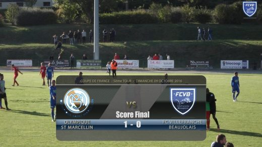 Foot – Coupe de France – OL St MARCELLIN – FCVB 09/10/2016