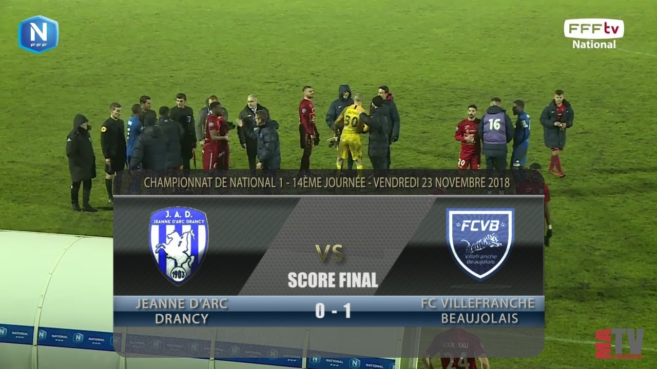 Foot - Drancy vs FCVB 23/11/2018