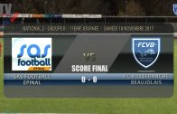 Foot – EPINAL vs  FCVB  18/11/2017
