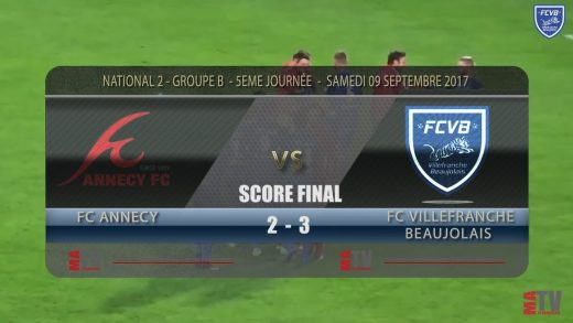Foot – FC Annecy – FCVB – 09/09/2017