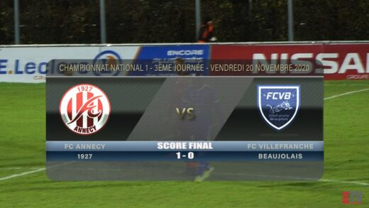 Foot - FC Annecy vs FCVB 20/11/2020