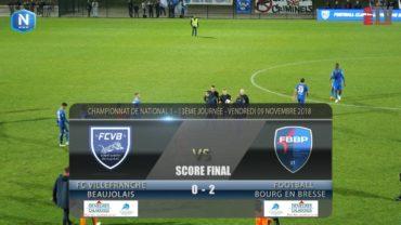 Foot – FCVB – Bourg en Bresse  9/11/2018