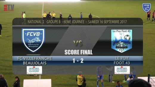 Foot – FCVB – LE PUY – 16/09/2017