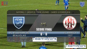 Foot – FCVB vs ANNECY 19ème journée