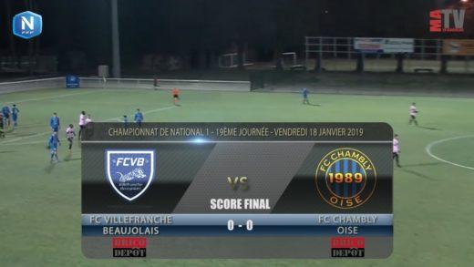 Foot - FCVB vs Chambly  18/01/2019