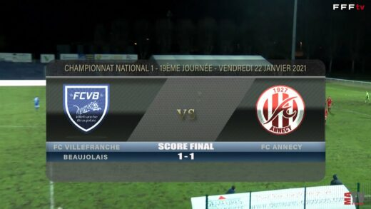 Foot - FCVB vs FC Annecy 22/01/2021