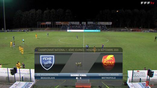 Foot - FCVB vs Quevilly Rouen  04/09/2020