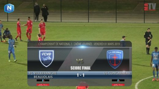 Foot - FCVB vs US Concarneau  01/03/2019