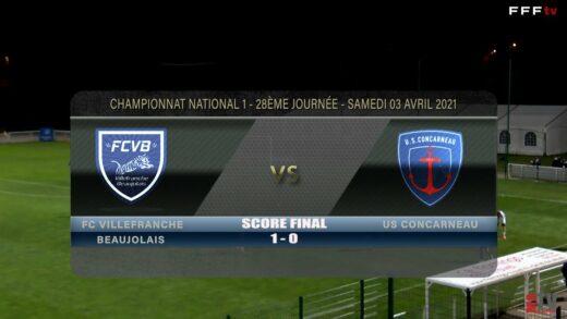 Foot - FCVB vs US Concarneau 03/04/ 2021