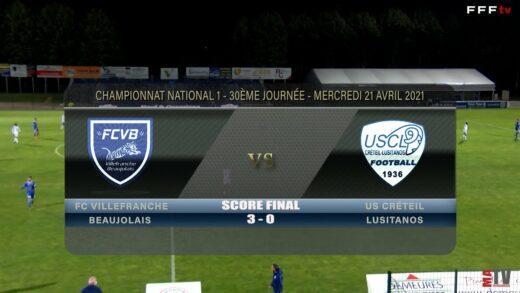 Foot - FCVB vs US Créteil 21/04/2021