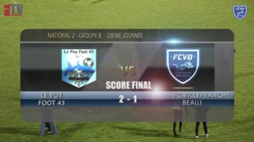 Foot – Le Puy foot 43 vs FCVB 20ème journée